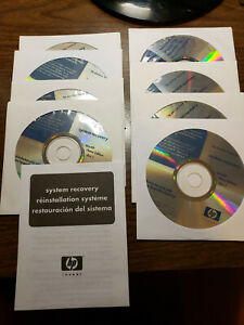 HP Pavilion Home PC System Recovery disc set, WinXP Home Edition