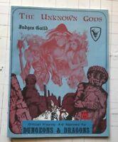 THE UNKNOWN GODS Judges Guild Module D&D RPG Game Supplement 420 1980 book rare!