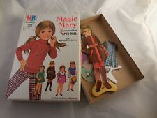 Vintage Magic Mary Magnetic Paper Doll Milton Bradley Mary, Stand, 5 Outfits