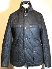 Ted Baker Black Quilted Cotton w/Tweed Collar Trim Jacket London 4
