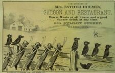 1870's Mrs. Esther Holmes Saloon & Restaurant Toledo OH Crows Grasshoppers P103