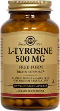 Solgar L-Tyrosine 500mg 100 Vegetable Capsules