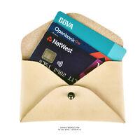 Tarjetero billetera de piel cartera hombre en cuero vacuno tarjetas caballero