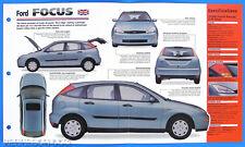 Ford Focus UK 1998 Spec Sheet Brochure Poster IMP Hot Cars Group 1 #68