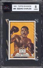 1951 Topps Ringside Boxing #96 Ezzard Charles KSA 8 NM-MT Extremely sharp!