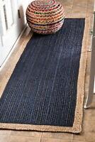 Indian Natural Jute braided Bohemian Rag Rug, runner rug, home decor rug *##