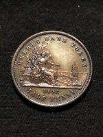 1852 Quebec Bank Token Half Penny Token Un Sou Canada 1/2 Penny AU Condition