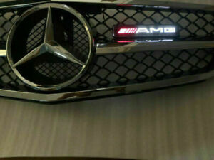 AMG LED Light Front Grille Badge Illuminated Decal  decoration for Mercedes Benz