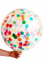 Confetti Balloon 90cm Extra Large Size Rainbow Party Supplies USA Made Qualatex