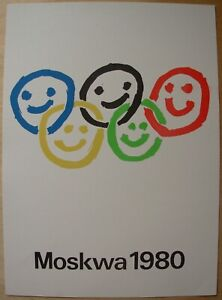 Polish Sport POSTER Olympiad-1980 MOSOW Soviet Olympic GAME
