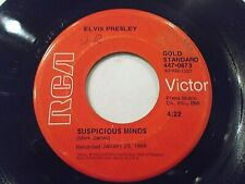 Elvis Presley Suspicious Minds / You'll Think Of Me 45 RCA Gold Vinyl Record