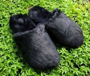 NEW Vionic Women's Indulge Gemma Plush Black Orthotic Faux Fur Slippers Size 8