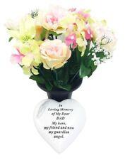 Grave Ornaments Dad Flowers Pot In Loving Memory Stone Graveside Memorial Plaque