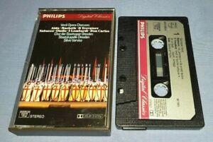 VERDI OPERA CHORUSES PAPER LABELS classical music cassette C0211
