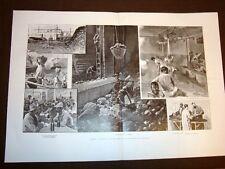 Genova nel 1905 Lavoratori del carbone vapore carbonifero Molo Lucedio Porto