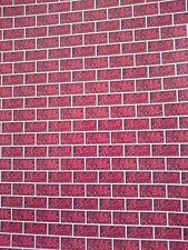 Dolls House 12th Scale Self Adhesive - Red Brick - Gloss Photo Paper