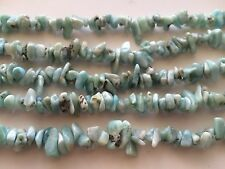 LARIMAR CHIPS BEADS 5X8MM , 16""