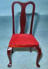 VINTAGE 4 SIDE CHAIRS MAHOGANY, #746A DOLL HOUSE FURNITURE MINIATURES