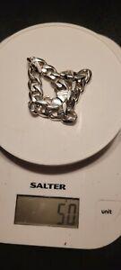 Mens Curb Silver Bracelet