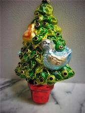 CHRISTOPHER RADKO ORNAMENT 1ST DAY FARE PARTRIDGE IN A PEAR TREE, 12 DAYS