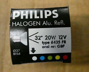 2 Philips 6435 FR 20W 12V Halogen Frosted Display 20 watt light bulbs