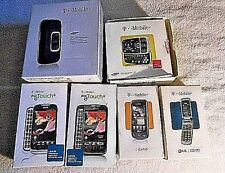 Lot Of 7 Empty Original T-Mobile Assorted Cellphone Boxes With Paperwork