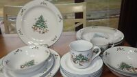Woodland Christmas Dinnerware set service for 4 by MING PAO