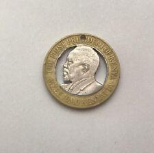 2005 Kenya 10 Shillings Cut Coin