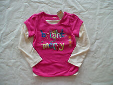 NWT GYMBOREE COLOR HAPPY BRIGHT AND MERRY PINK CANDY CANE TOP SHIRT 3T