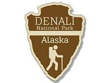 3x4 inch Arrowhead Shaped Denali National Park Sticker (rv Camp Hike Alaska)