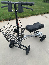 Knee Scooter (Collapsible) Used in Good Condition Black/Gray w/ Breaks + Basket