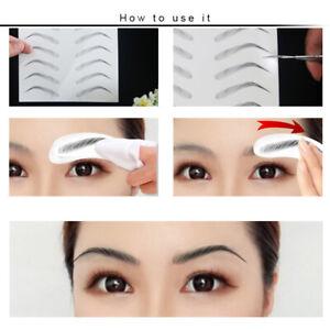 4D Fake Natural Eyebrow Makeup Eyebrows Tattoo Sticker Long Lasting Waterproof