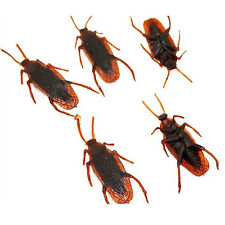 10x Halloween Fake Plastic Cockroaches Rubber Toy Joke Realistic Decoration Prop