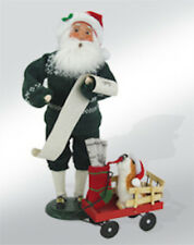 Byers Choice Newspaper Exclusive Santa w/Wagon & Dog Courier Times Intelligencer