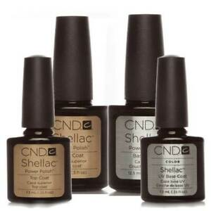 💅 CND Shellac Nail Polish 💅 Top & Base Coat 💅 Express top coat 💅