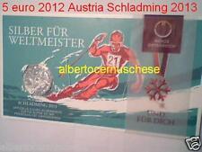 5 euro 2012 Ag folder Austria Autriche Osterreich Schladming 2013 Sci Alpino FIS