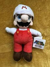 "Super Mario Plush Teddy - Fire Mario  Soft Toy - Size 8"" / 20cm NEW & Tagged"