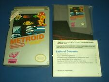 Metroid CIB Complete in ACCEPTABLE COND for NES Nintendo! AUTHENTIC & TESTED!