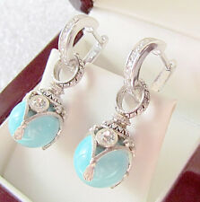 SALE !  EARRINGS STERLING SILVER 925 with GENUINE TURQUOISE and ENAMEL