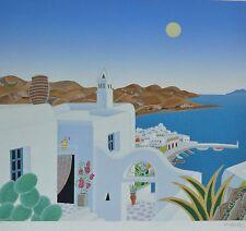 THOMAS McKNIGHT Kaminaki Return to Mykonos HAND SIGNED  Serigraph 1990 GREECE