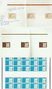 Libya 1976 Archives Council COMPOSITE PROOF SHEET