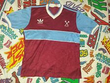 RARE VINTAGE WEST HAM UNITED JERSEY BY ADIDAS MADE IN UK 80'S WHUFC ENGLAND CLUB