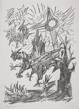 Rene Graetz-monstruos y sol-litografía para 1970
