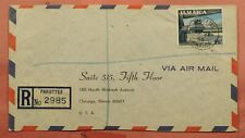 DR WHO 1966 JAMAICA PAROTTEE REGISTERED AIRMAIL TO USA  163732