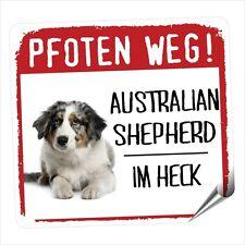 Auto Aufkleber REFLEX  AUSTRALIAN SHEPHERD 4 PFOTEN WEG Hunde Aussie SIVIWONDER