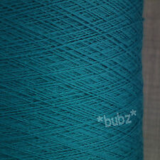 PURE MERINO WOOL YARN 2/30s TEAL 500g CONE LACEWEIGHT 1 PLY BLUE GREEN TURQUOISE