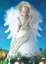 ANGEL TREE TOPPER FASHION DOLL CHRISTMAS PLASTIC CANVAS PATTERN INSTRUCTIONS