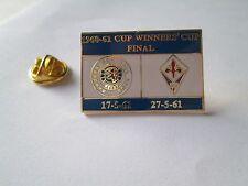 a1 GLASGOW - FIORENTINA final cup uefa coppa coppe 1961 spilla football pins