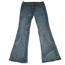 Rock & Republic Jeans Womens Size 29 Blue Low Rise Medium Wash Stretch Flare Leg