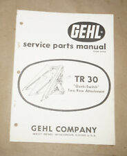 1967 GEHL Company TR30 Two Row Attachment Service Parts Manual P/N 2095D